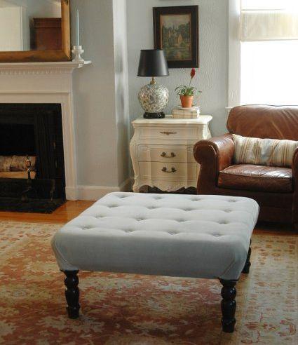 Magnífico Cómo Decorar Una Mesa De Café Muebles Otomana Ornamento ...