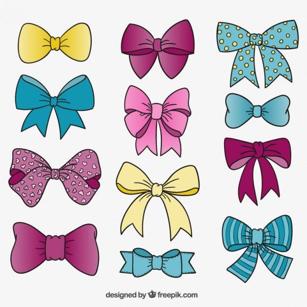 45++ Pink bow drawing clipart info