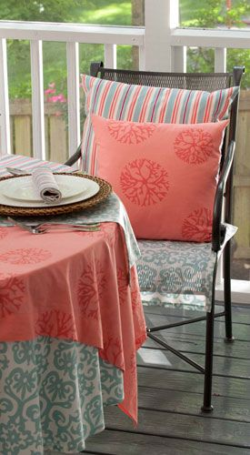 Coral Duck Egg Blue Hen House Linens To Colour My World