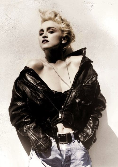 Sublime Mercies As Cool As Brando The Biker Jacket As Cultural Rebellion Madonna Madonna True Blue Herb Ritts Madonna 80s