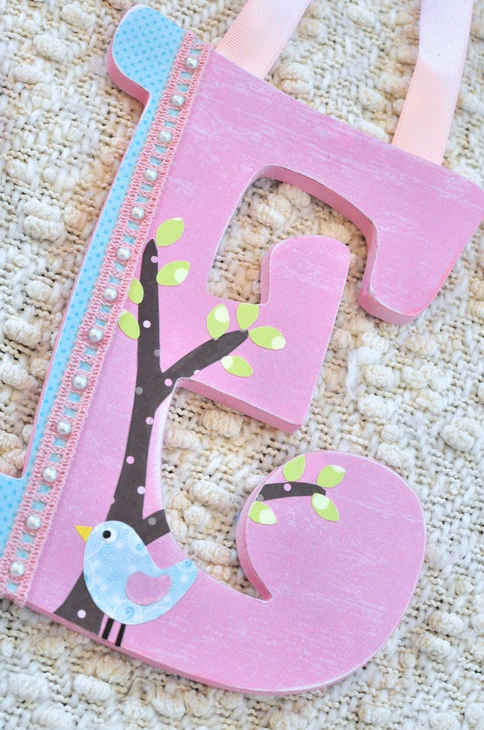 Custom letters baby name sign Pottery Barn Kids Hayley