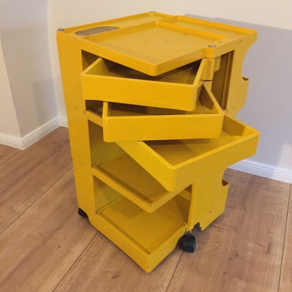 JOE COLOMBO Rollwagen Rollcontainer Bürocontainer Trolley