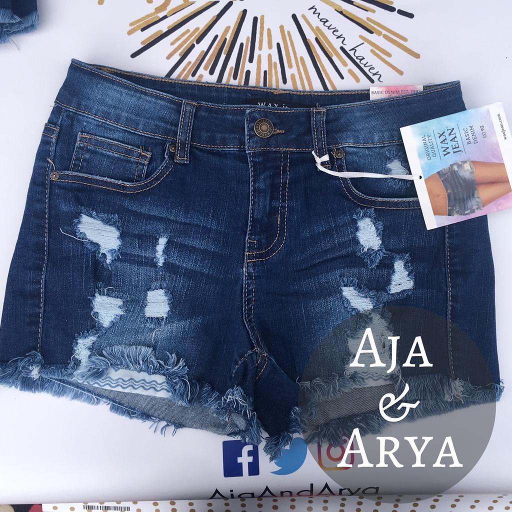 Wax Jean Shorts Waxed Jeans Jean Shorts Shorts