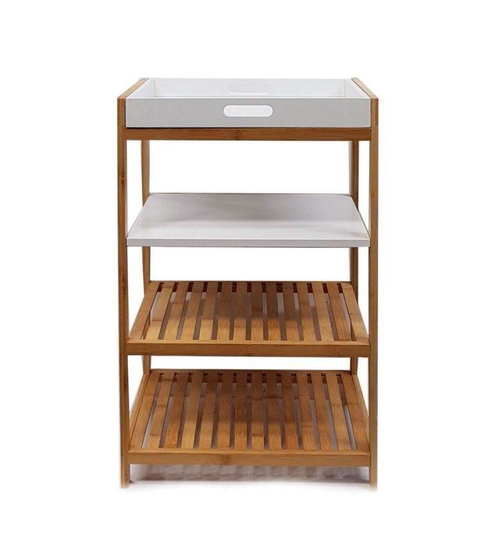 osoltus badregal tablett regal sonderborg aus bambus und holz wei garderobe selber machen. Black Bedroom Furniture Sets. Home Design Ideas
