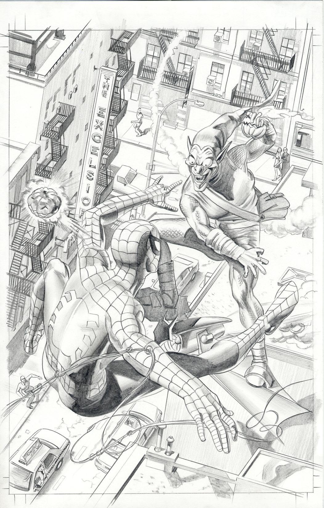 Spider-Man vs. Green Goblin - Mike Mayhew | Ilustración y comics ...