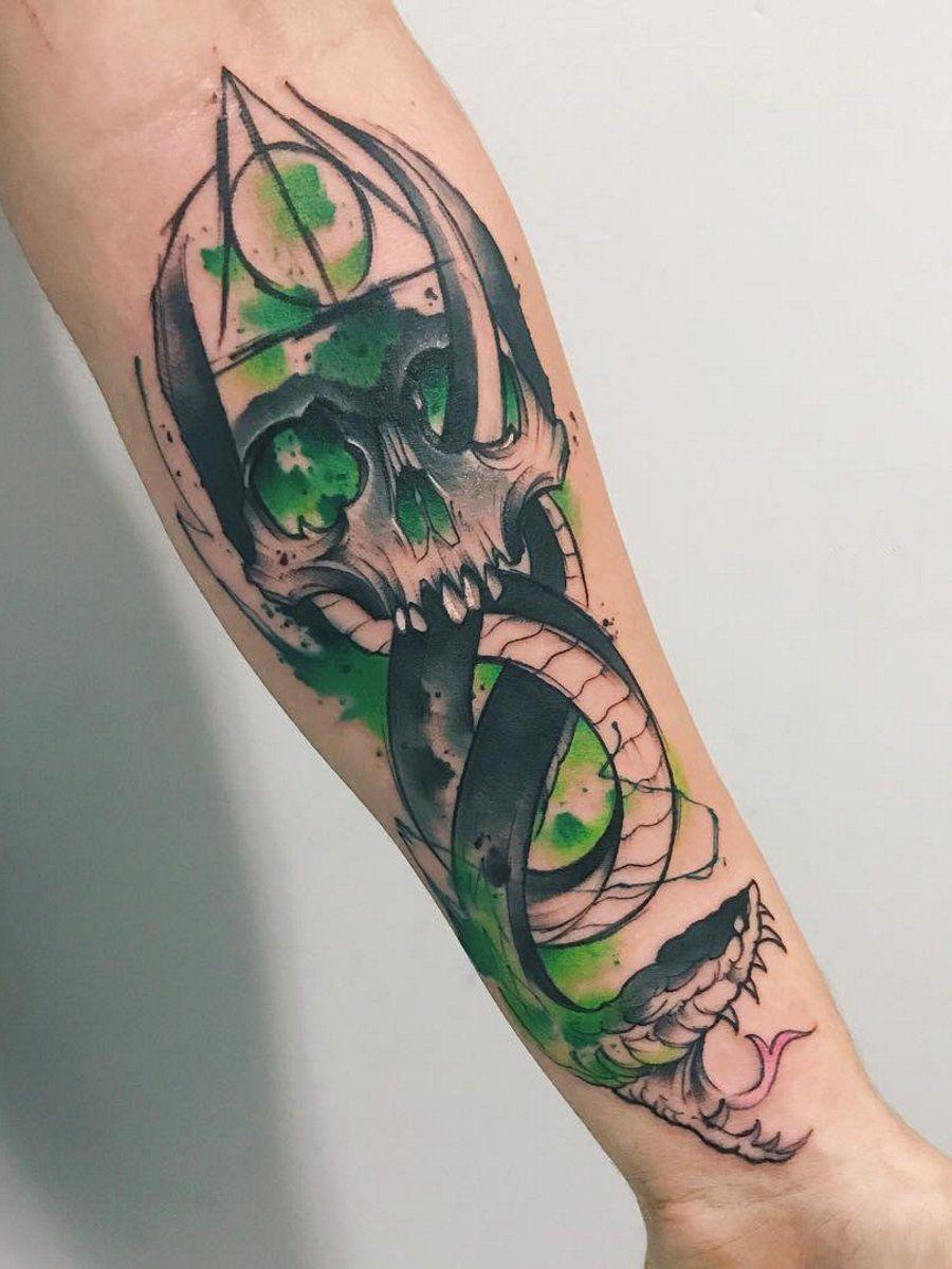 Ramon On Twitter Harry Potter Tattoo Sleeve Slytherin Tattoo Body Art Tattoos