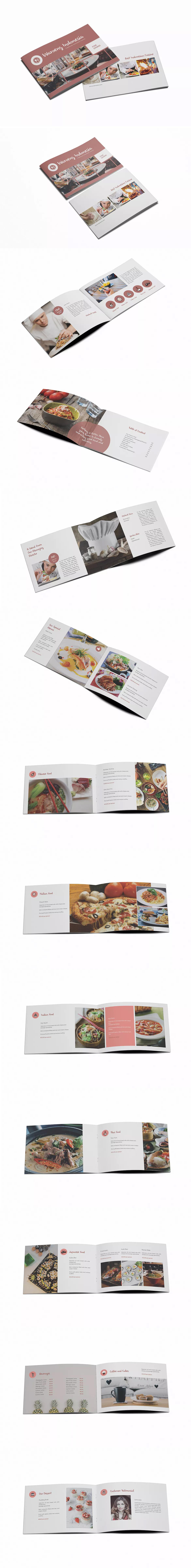 Restaurant Brochure Template InDesign INDD A5 | Brochure Templates ...