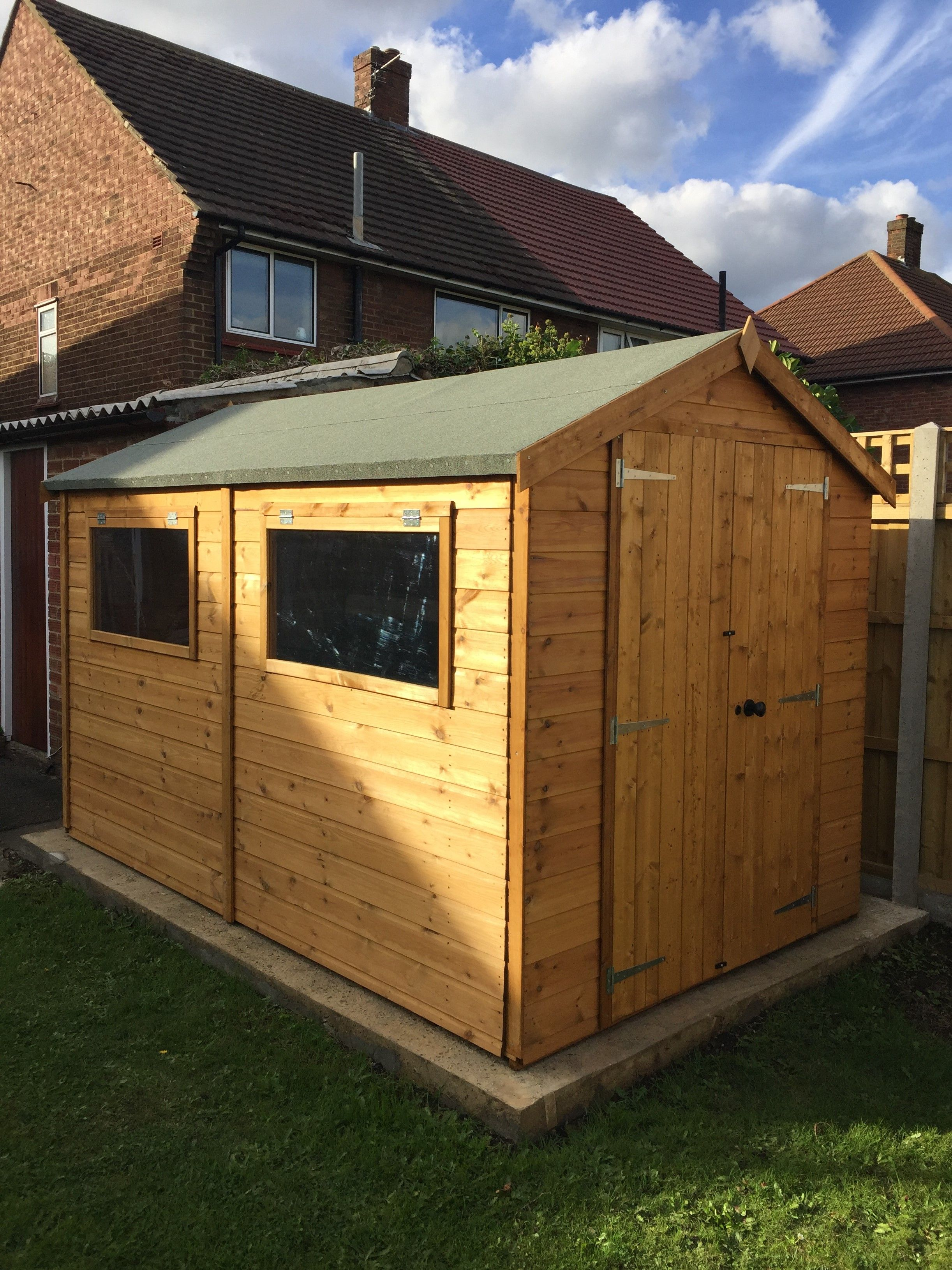 10 x 6 Waltons Groundsman Tongue and Groove Apex Garden Shed ...