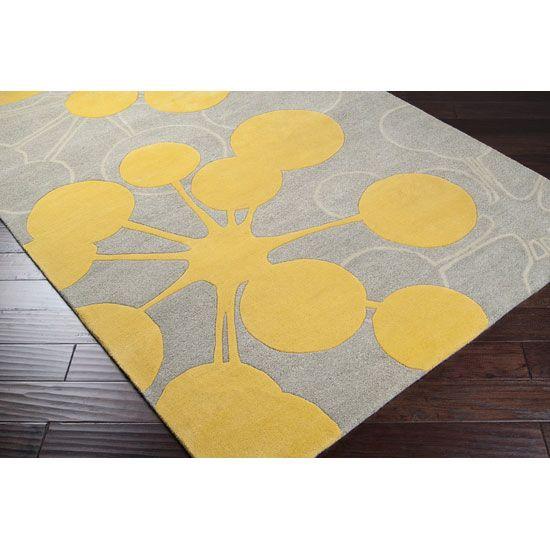 Atomic Yellow Rug Dorm room design project Pinterest