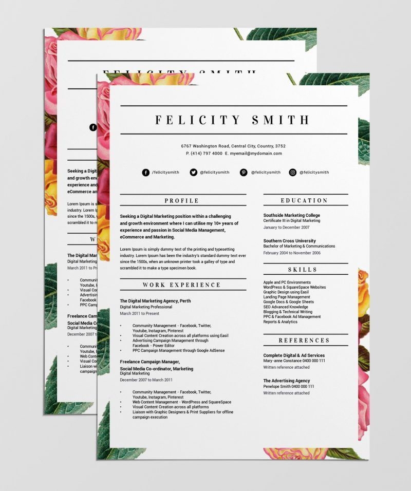Resume template free 12 Best Free Resume Templates