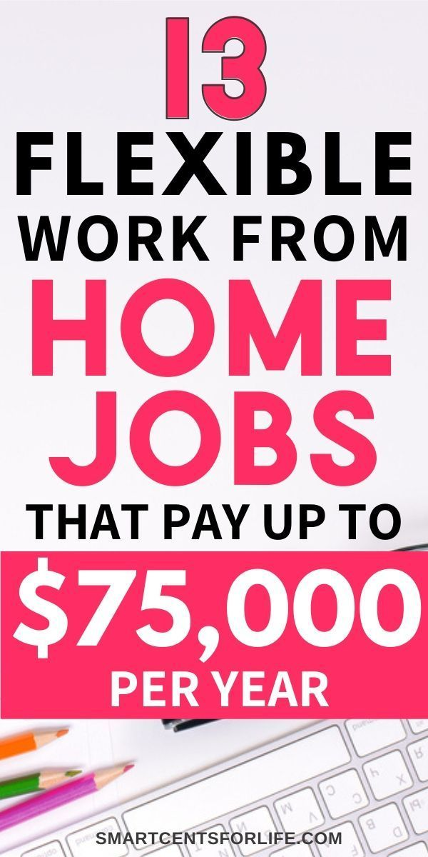 13 Real Work From Home Jobs Paying Up To $75,000 A Year