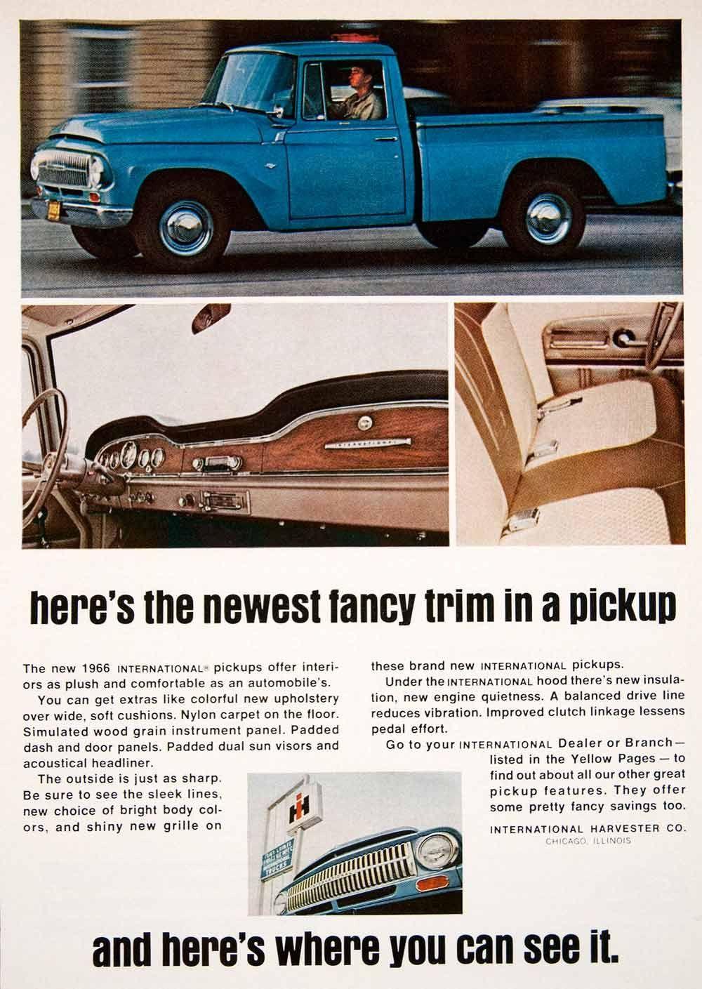 1966 Ad Pickup Truck International Harvester Chicago Illinois Automobile Sf1 Pickup Trucks International Harvester International Pickup Truck