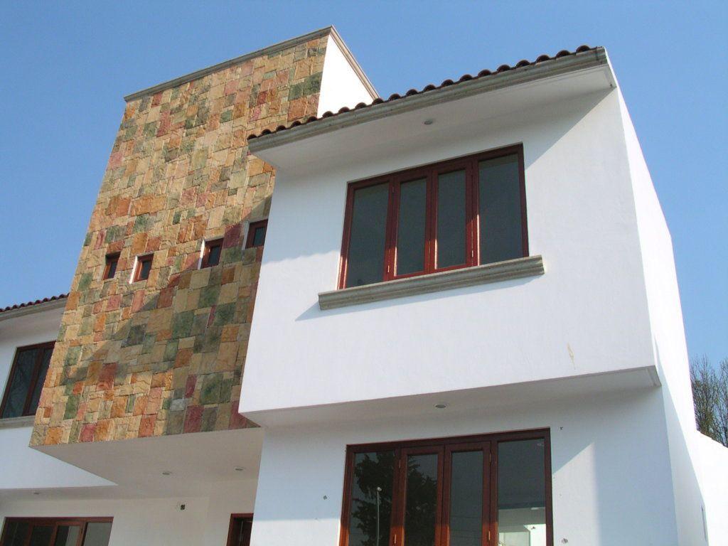 Casa habitaci n en san ngel estructura de muros y losas - Losetas para fachadas ...