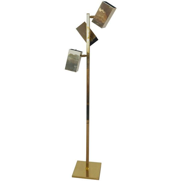 Preowned Koch & Lowy Brass Cubist Floor Lamp (98,395 PHP) ❤ liked ...