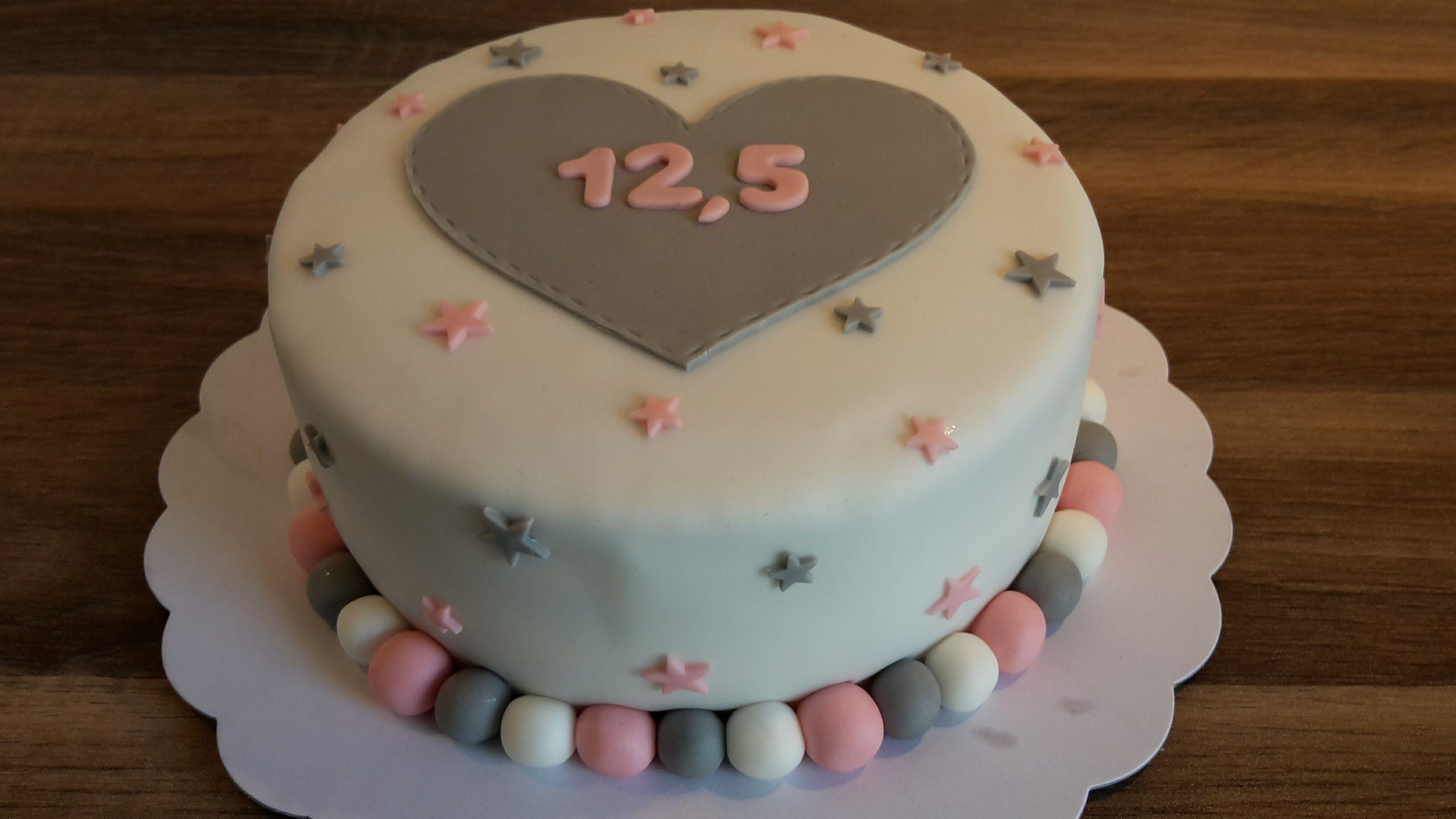 Nieuw 12,5 jaar getrouwd taart / wedding anniversary cake | Taart UZ-71