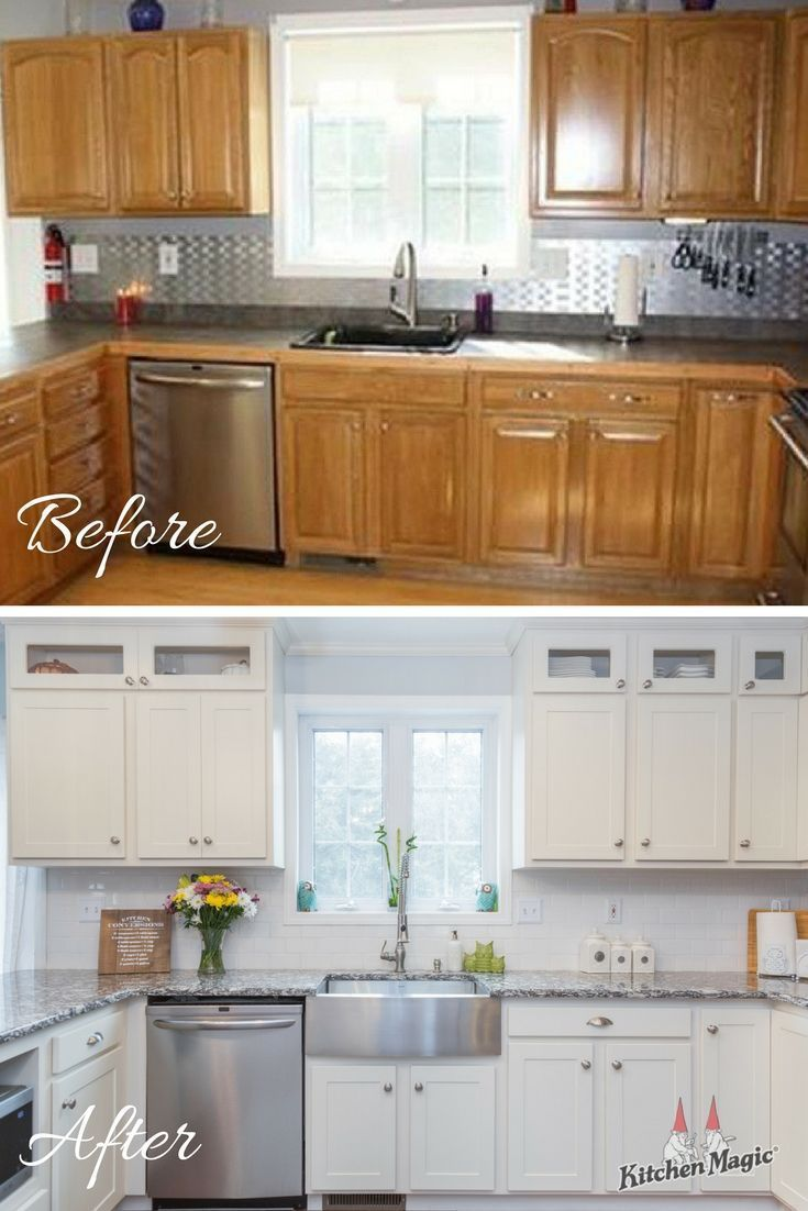 This Week S Before And After Features One Of Our Latest Remodels Cabinet Refacing Brought This Lit Kitchen Cabinet Remodel Diy Kitchen Remodel Kitchen Remodel