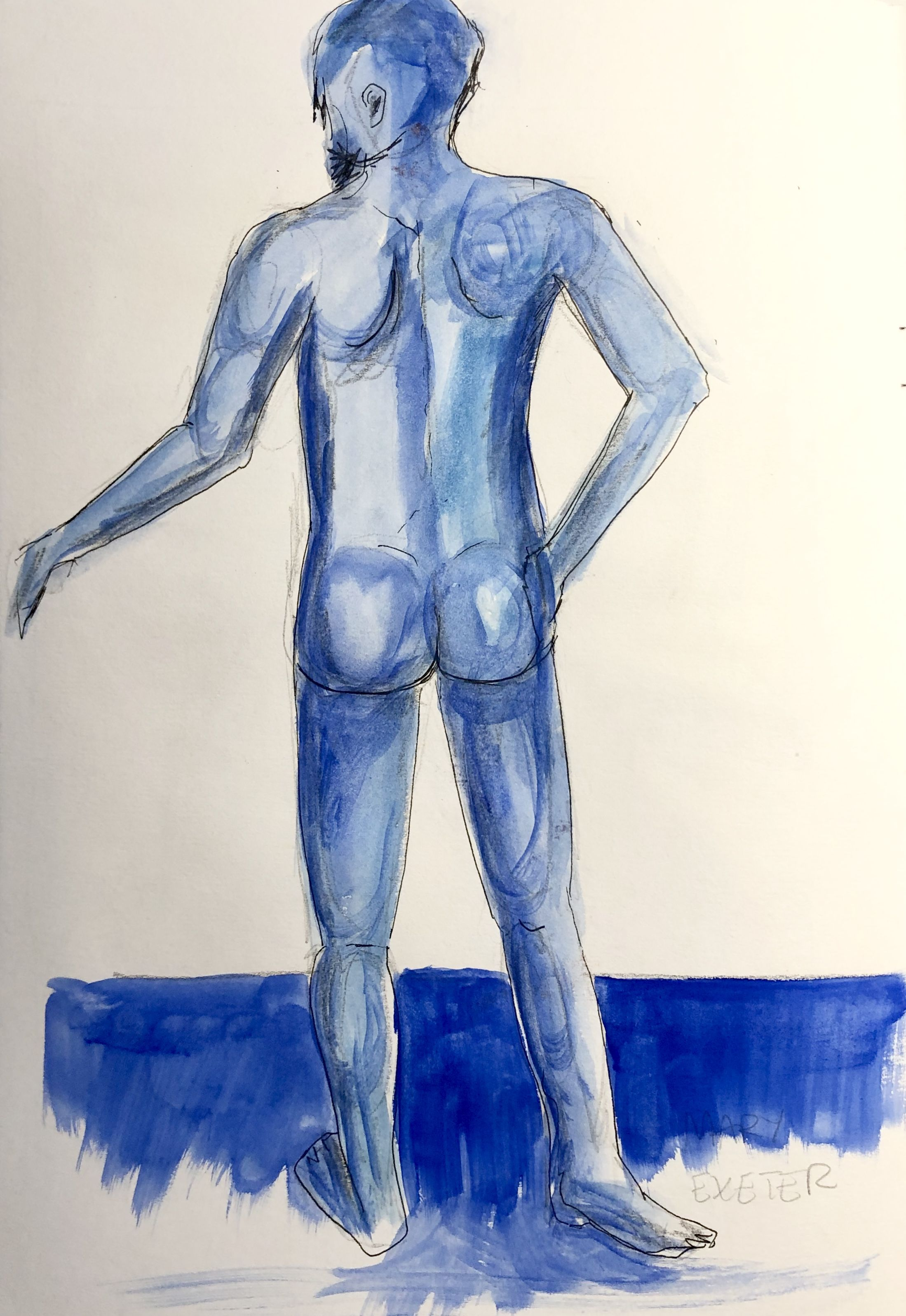 Drawn while watching bbc4 life drawing live 040220