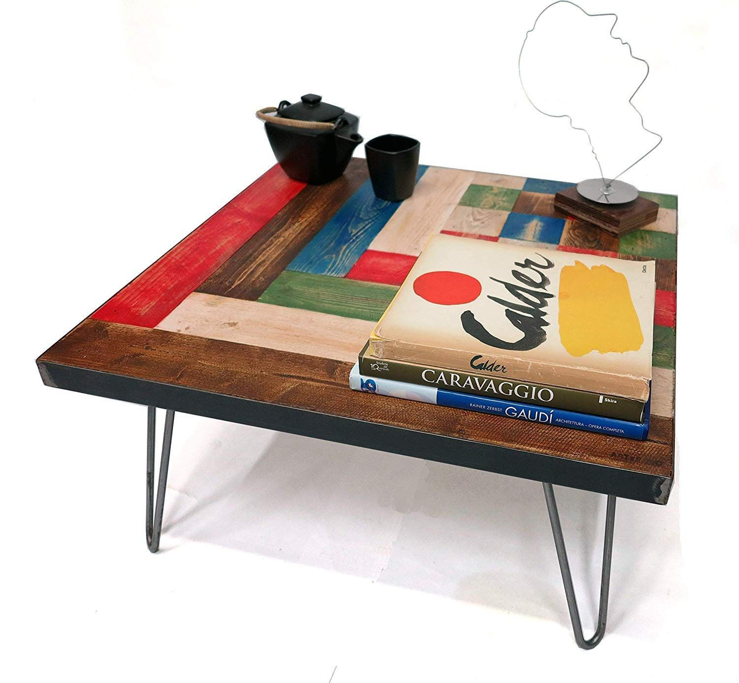 """Customizable colored coffee table """"Paul Klee model"""