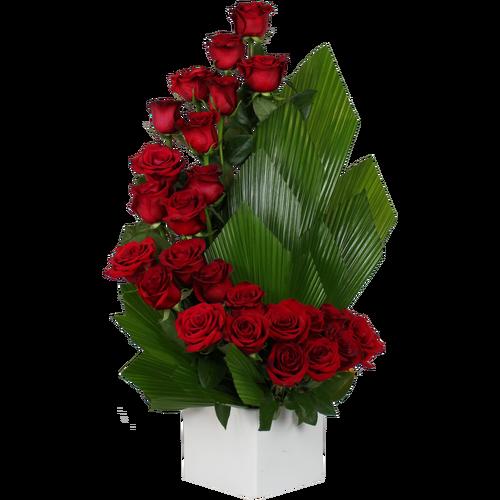 Afr1252 Rose flower arrangements, Church flower