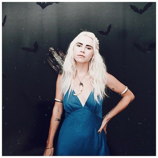 dress platinum hair blonde hair halloween costume halloween khaleesi costume