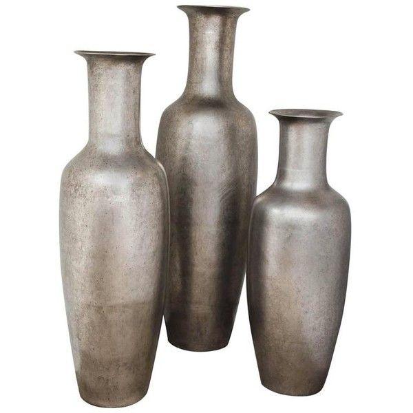 Trio Of Monumental Floor Vases 4 675 Liked On Polyvore