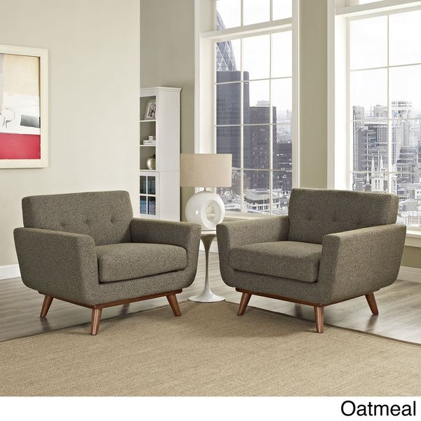 Engage Modern Sloping Armchairs (Set of 2) | Overstock.com Shopping ...