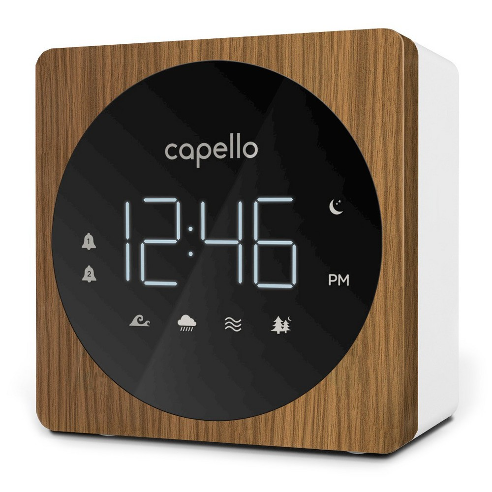 Digital Alarm Clock With Sound Machine Black Larch Capello