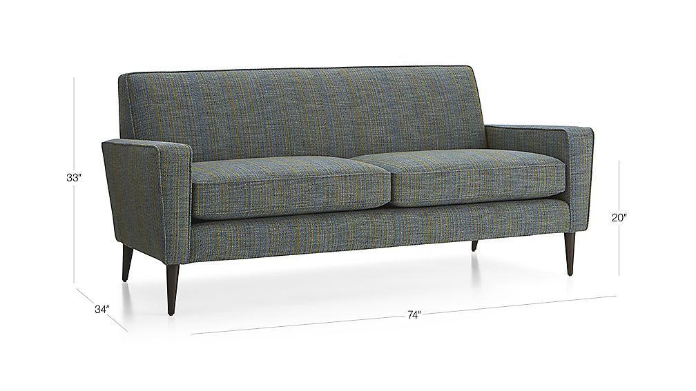 Torino 2 Seat Apartment Sofa   Ink | Crate And Barrel