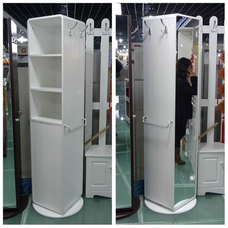 White Belt Cabinet Door Dressing Mirror Clothes Hook Customize Shoe Hall Rotating Inshoe Hanger From Home Garden