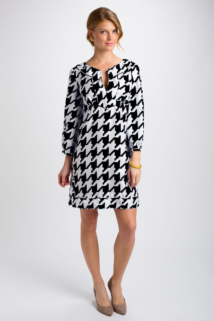 Marilou dress elephant print $265   Clothes, Houndstooth