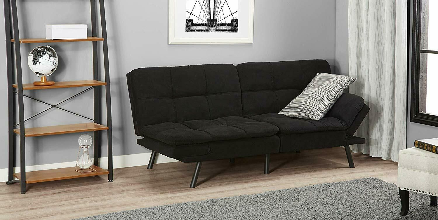 Memory Foam Futon Sofa Bed Couch Sleeper Convertible