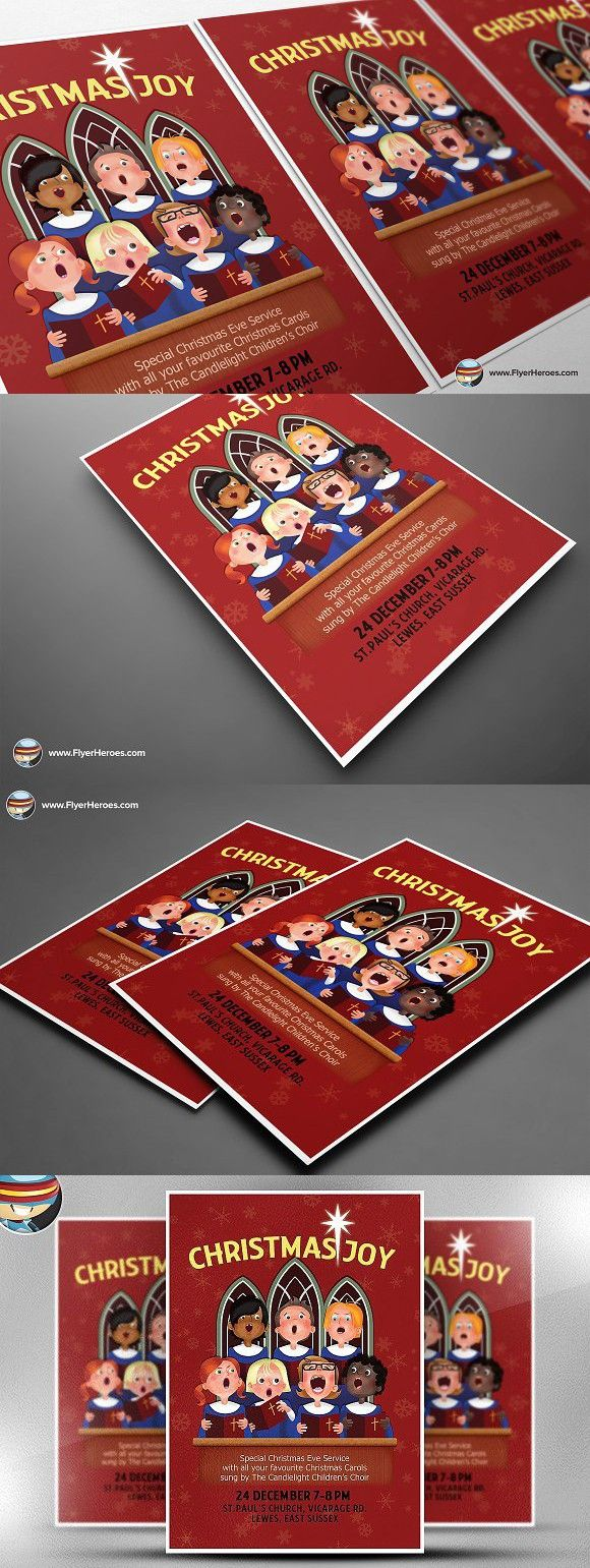 Christmas Choir Flyer Template Photoshop Party Graphic Design