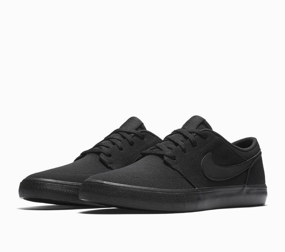 2872f6e46d4ede Nike SB Portmore II Solar Canvas Mens Skate Shoes 10 Black 880268 001  Nike   SkateShoes