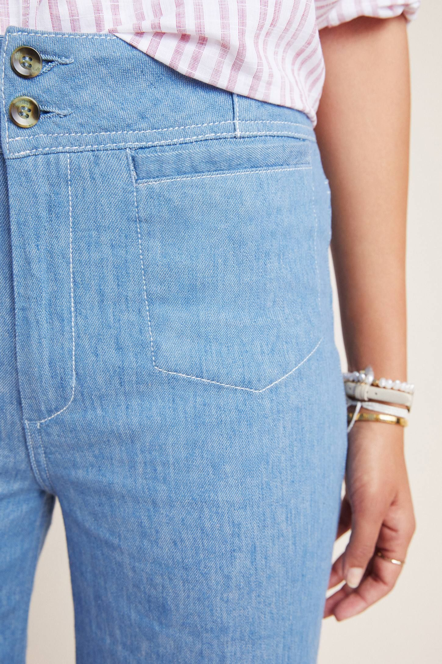 f0aa2d4ad Pilcro High-Rise Wide-Leg Trouser Jeans in 2019 | DENIM | Trouser ...