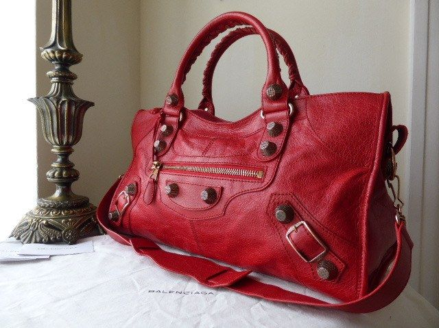 Balenciaga Giant Part Time in Coquelicot Lambskin with Rose Gold Hardware -  SOLD 66ccd2d782492
