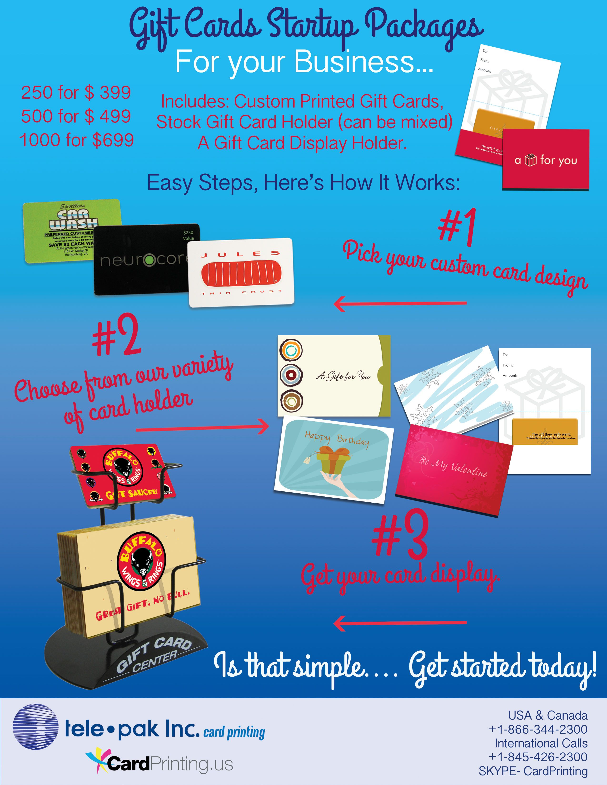 250 custom gift cards 250 stock gift card holders A gift card ...