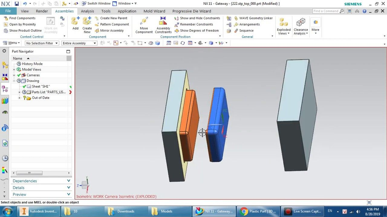Nx 11 Tutorial Mold Design In Nx 11 Cavity And Core In Nx 11