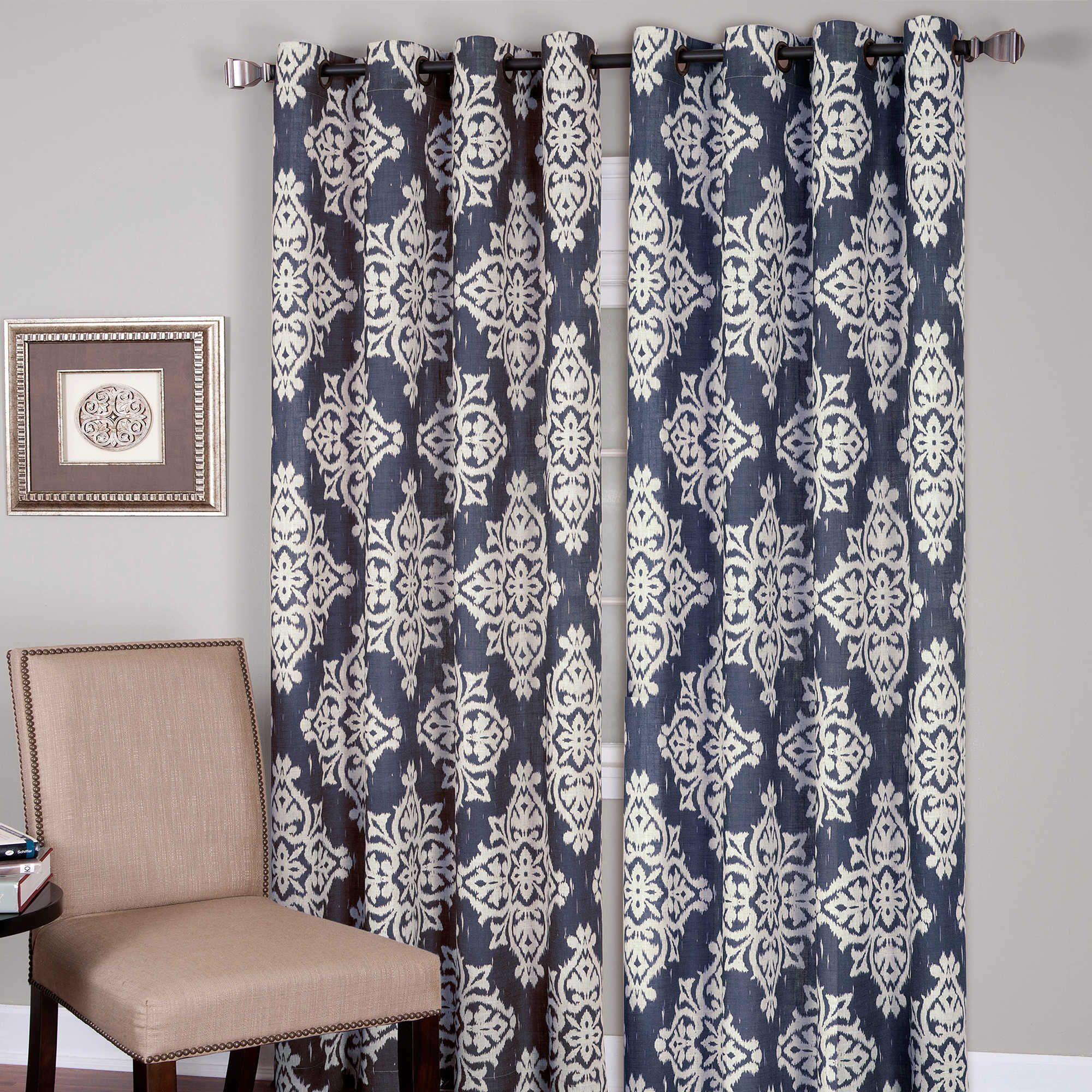 Medina grommet window curtain panels dining room ideas pinterest