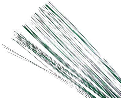 12 Pack 16 Gauge Green Floral Wire - 18 | Floral supplies