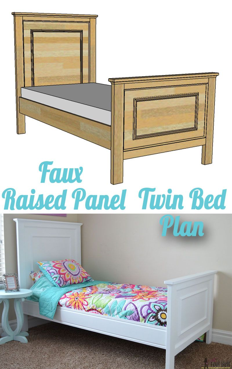 Twin Bed With Faux Raised Panel Diy Furniture Diy Bed