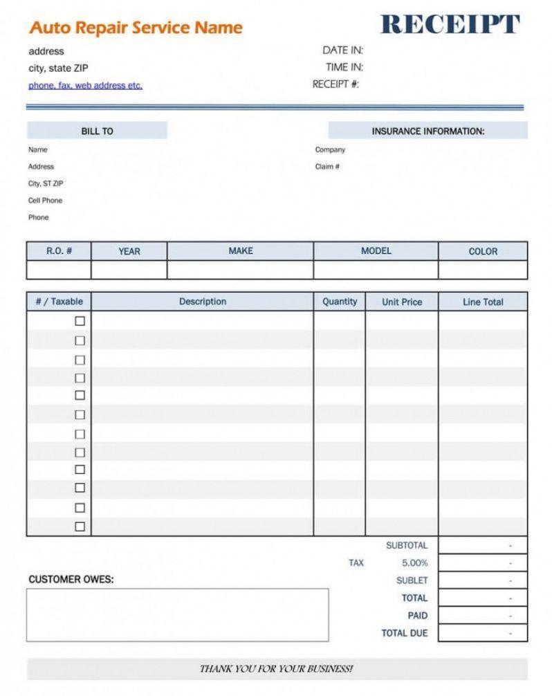 Explore Our Sample Of Auto Repair Bill Template For Free Invoice Template Word Invoice Template Bill Template