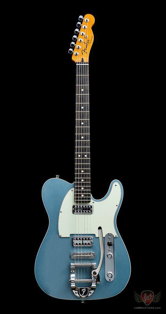 Fender Custom Shop Double TVJ Telecaster w/Bigsby NOS - Blue Ice Metallic #fenderguitars Fender Custom Shop Double TVJ Telecaster w/Bigsby NOS - Blue Ice Metallic #fendertelecaster