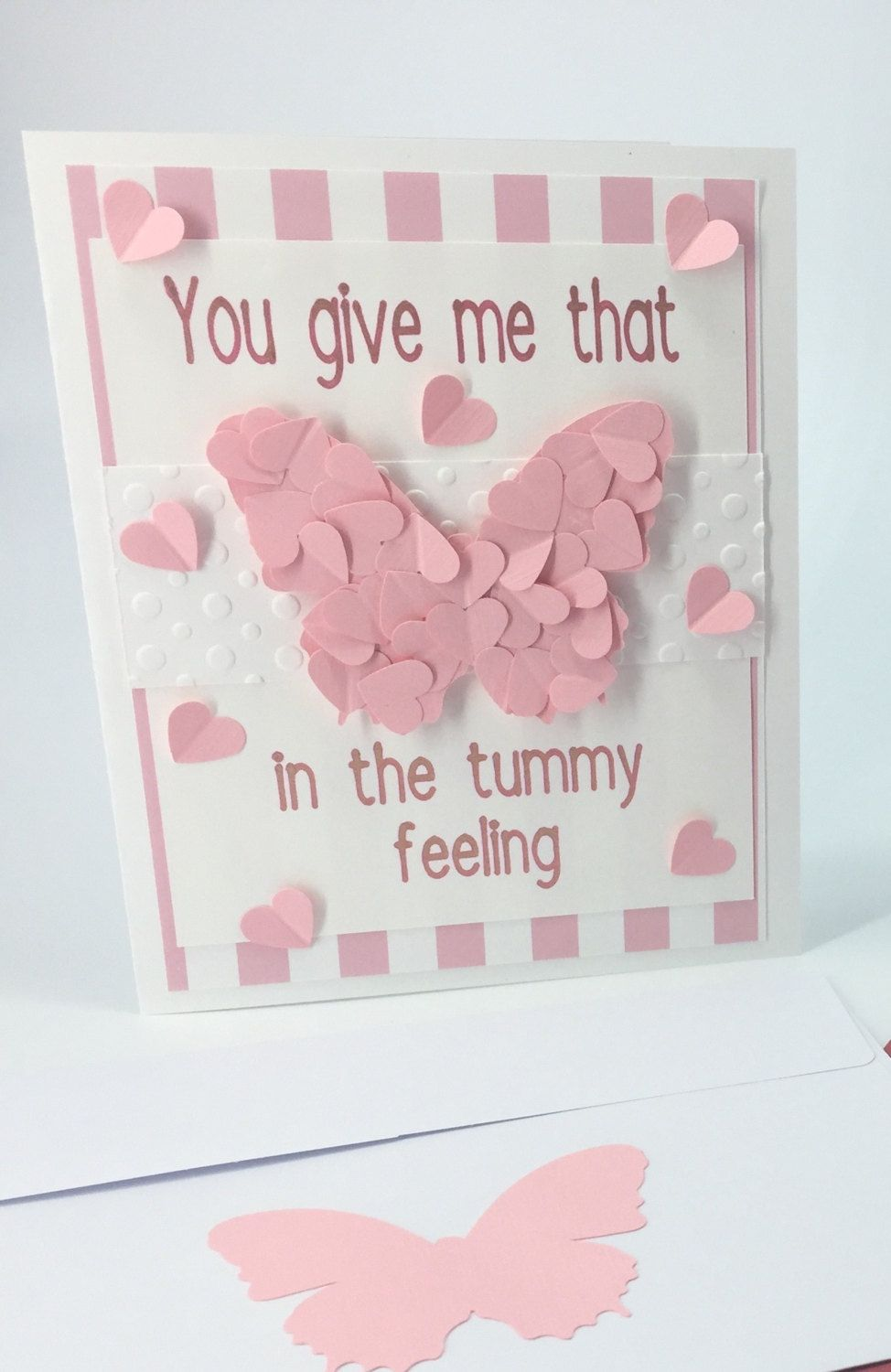 Romantic Valentines Day Card Card For Her Butterfly Valentines