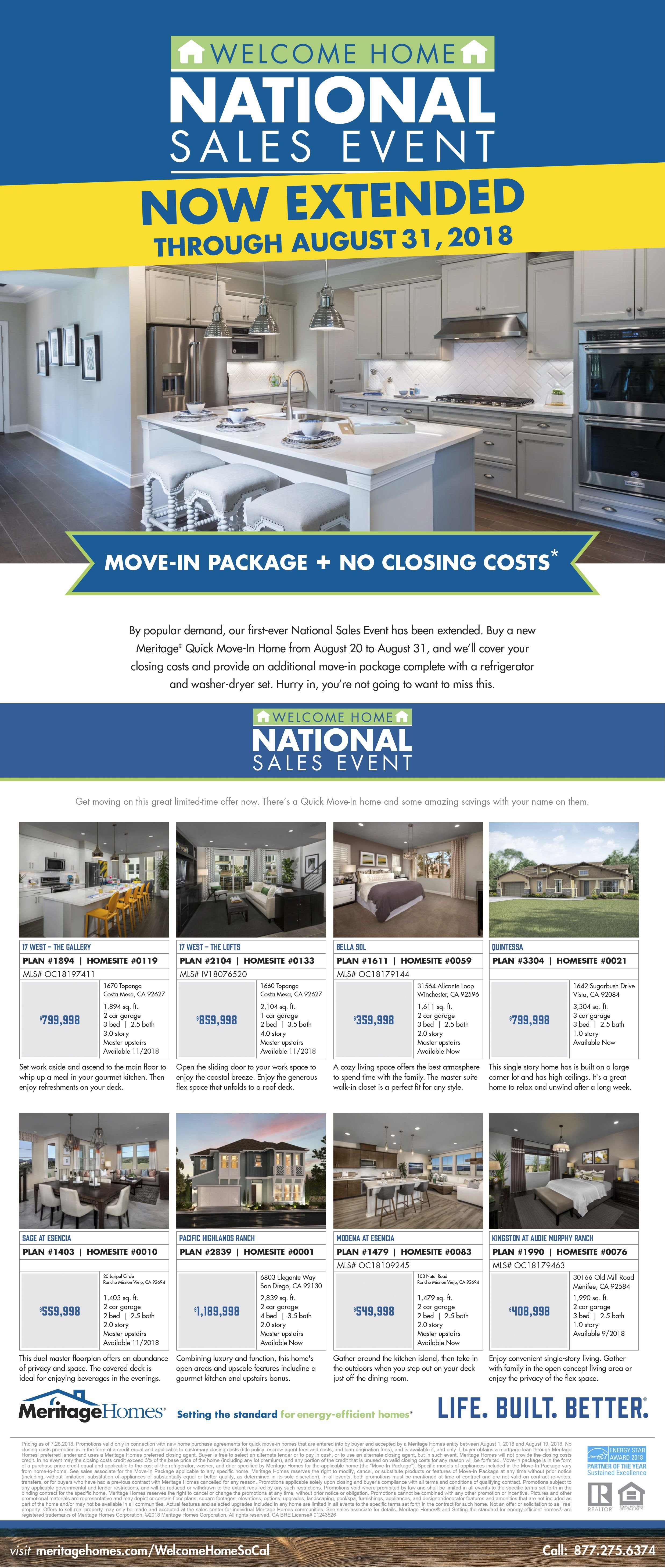 New Homes For Sale In Southern California Surprise Extension Only