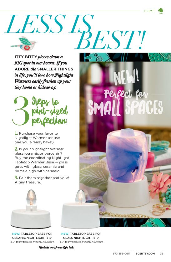 Elegant Tabletop Base For Scentsy Nightlight Warmers | Youu0027ll Love How Nightlight  Warmers Easily Freshen Up Your Tiny Home Or Hideaway.