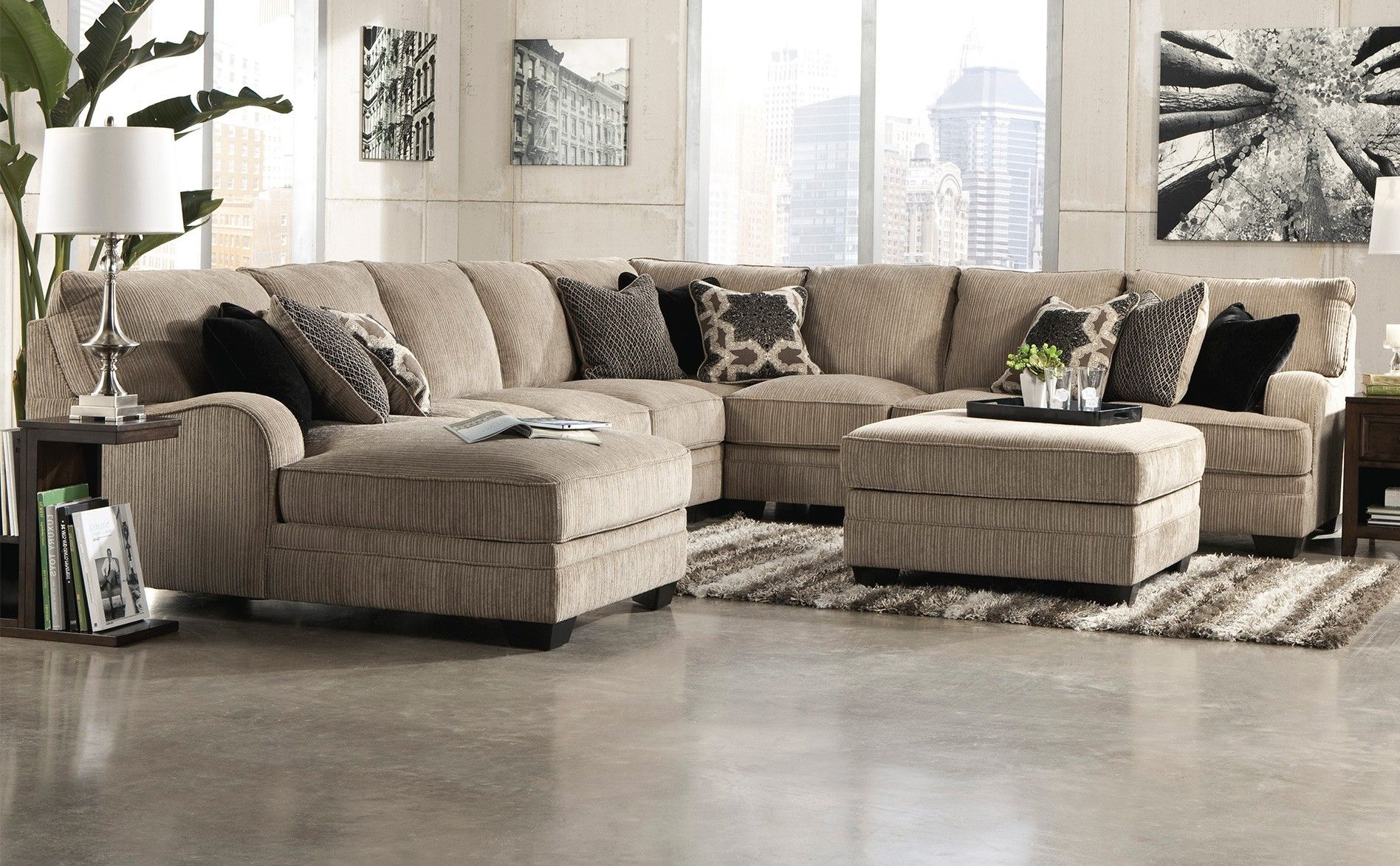 Ashley Katisha Sectional - Platinum | Home | Furniture ...