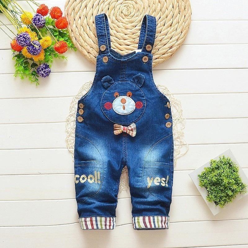Kids Baby Boys Dungaree Bib Overalls Jumpsuit Romper Denim Shorts Jeans Pants