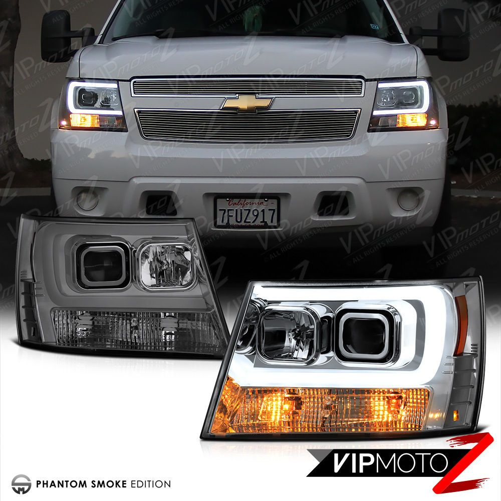 2007 2017 Chevy Suburban Tahoe Avalanche Tron Style Led Neon Headlights