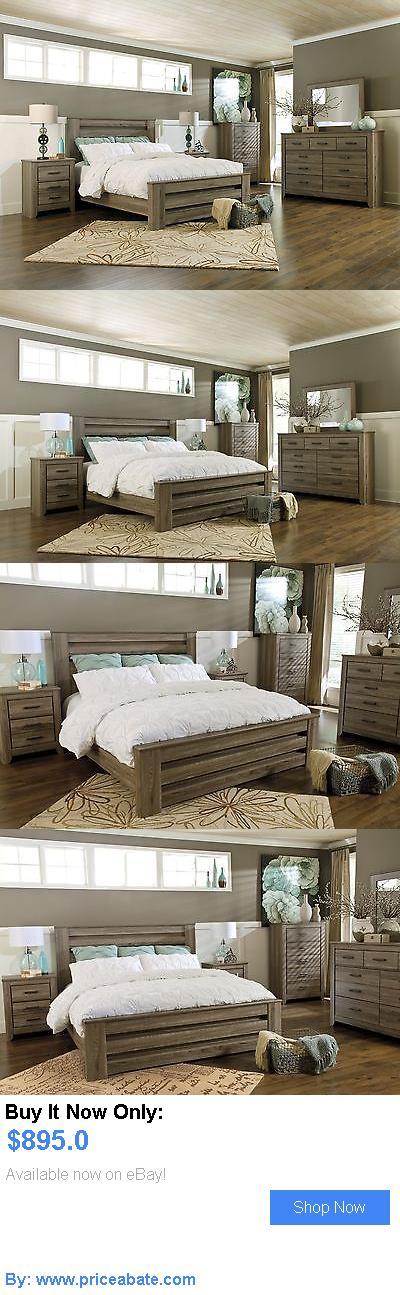 Bedding Ashley Zelen Queen 6 Piece Rustic Poster Bed Set