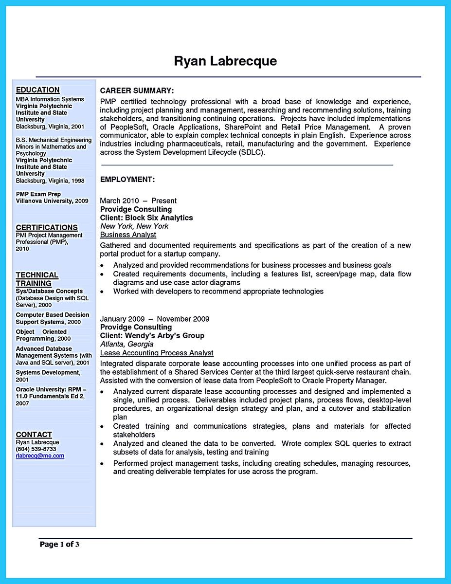 Business Management Resume Usually The Recruiters Spend Ten Seconds Or Less To Review The